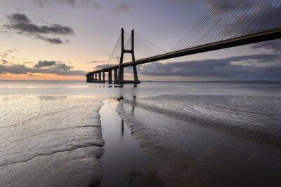 Obraz Paisagem Urbana de Lisboa ea sua Ponte.