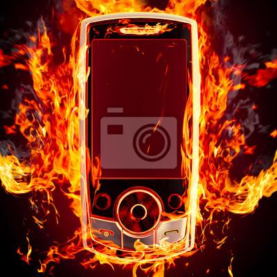 pálení telefon