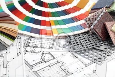Paleta barev vzorů pro vnitřní práce