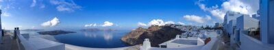 Obraz Panorama à Fira à Santorin, Kyklady les en Grèce