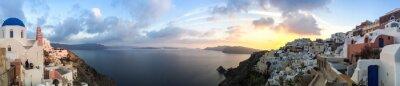 Obraz Panorama à Oia à Santorin, Kyklady les en Grèce