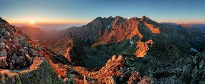 Obraz Panorama horské podzimní krajina
