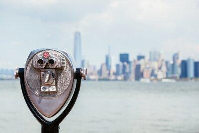 Obraz Panoráma New Yorku s binokulární