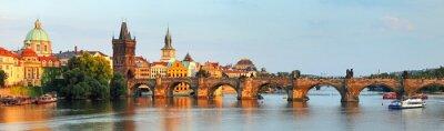 Obraz Panorama of Charles bridge in Prague, Czech republic
