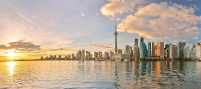 Obraz Panorama Toronto panorama při západu slunce v Ontariu, Kanada.