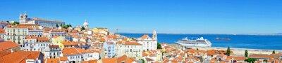 Obraz Panorama z Lisabonu v Portugalsku