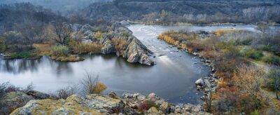 Obraz panoramatický výhled na řeku na podzim