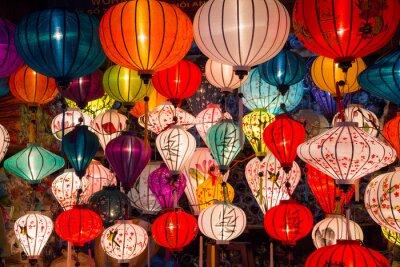 Obraz Papírové lucerny na ulicích starého asijského města