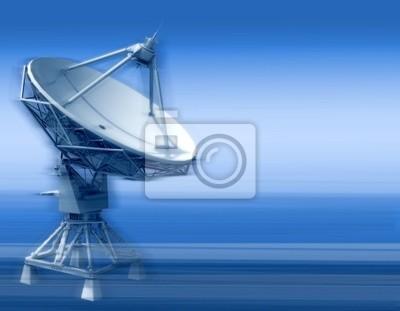 parabolická anténa z prostoru komunikace