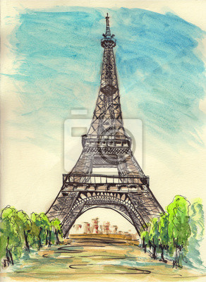 paris eiffel tower sketch