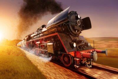 Obraz parní lokomotiva