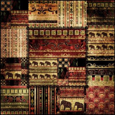 Obraz Patchwork africký vzor vytisknout na pozadí