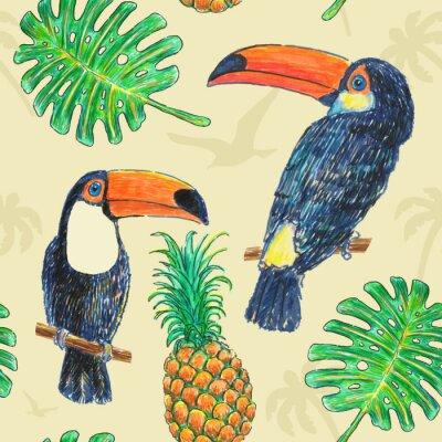 Obraz Pattern Toucan Drawing Marker