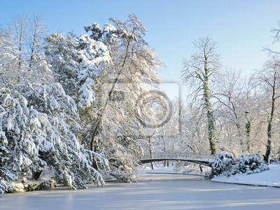 paysage d'hivers à l'Orangerie de Strasbourg