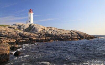 Obraz Peggy Cove Lighthouse, Nova Scotia, Kanada