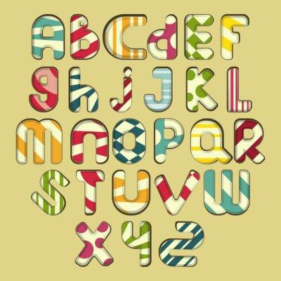 Obraz pestře pruhované abecedy
