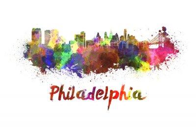 Obraz Philadelphia panorama v akvarelu