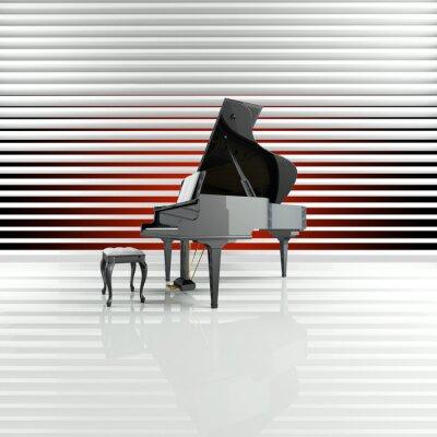 Obraz Piano, Flügel, Bühne, hvězda, Talent