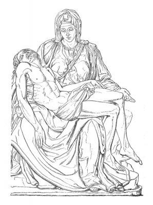 Obraz Pieta - Michel-Ange