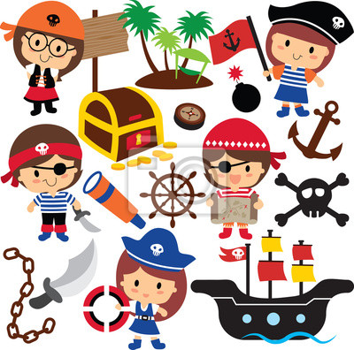 Pirati Deti Kreslene Obrazky Pod Klicovymi Obrazy Na Stenu Obrazy