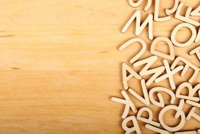 Obraz Písmena a číslice
