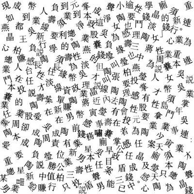 Písmena Abstraktní japonské novin