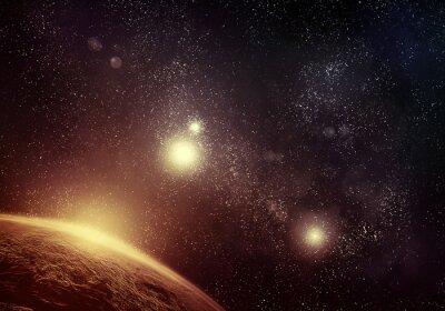 Obraz Planet a starfield