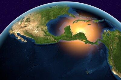 Obraz Planeta Země, Země z vesmíru ukazuje Střední Ameriky, Belize, Kostarika, Salvador, Guatemala, Honduras, Nikaragua, Panama na zeměkouli v denní době, prvky tohoto snímku zařízený NASA