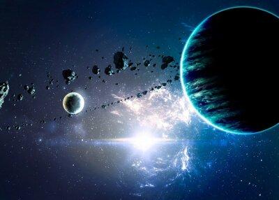 Obraz Planety nad mlhovin v prostoru. Prvky tohoto obrázku