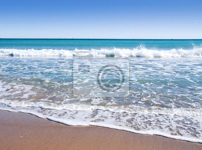 Obraz playa de Agua Azul y arena Roja
