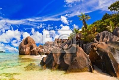 Pláž Source d'Argent na Seychely