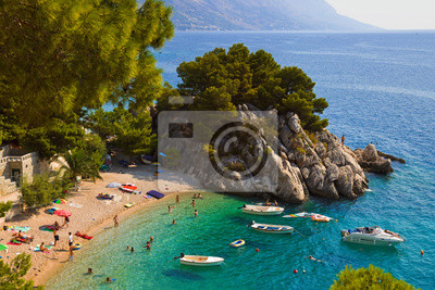 Pláž u Brela, Chorvatsko
