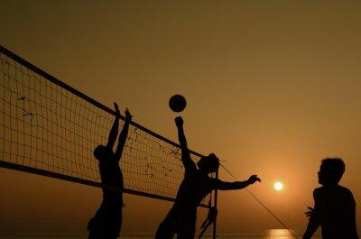 Obraz Plážový volejbal silueta