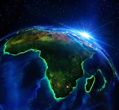 Obraz plocha pozemku v Africe, v noci