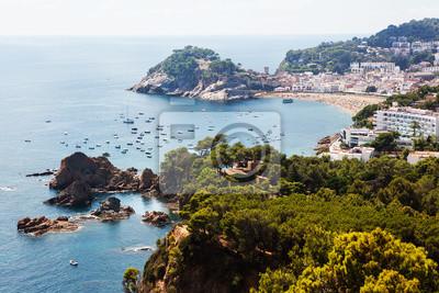 Pobřeží Tossa de Mar, Španělsko.