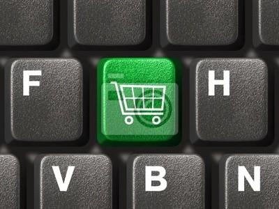 Počítačová klávesnice s nákupním klíč
