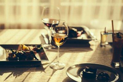 Obraz Podávané jídlo a víno