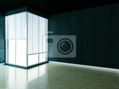 podkroví, prázdná místnost, podkroví, 3d