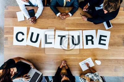Obraz Podnikatelé diskutují o pracovní kultuře v setkání