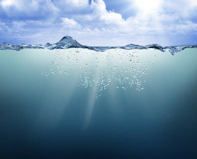 Obraz podvodní pohled s modrou vodou