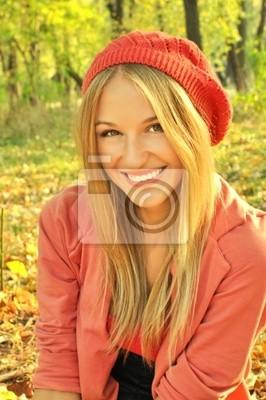 Podzimní dívka portrét