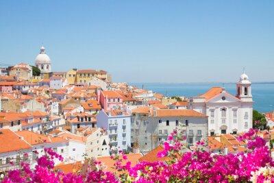 Obraz Pohled na Alfama, Lisabon, Portugalsko