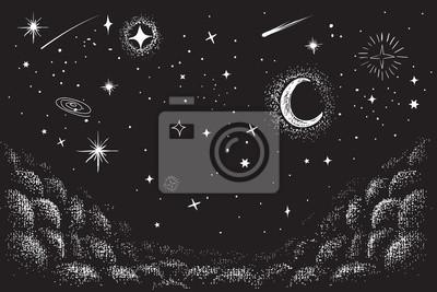 Obraz Pohled na oblohu v noci