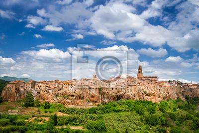 Pohled na Pitigliano, Itálie
