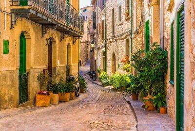 Obraz Pohled na romantické ulici staré středomořské vesnice ve Španělsku