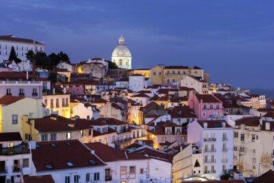 Obraz Pohled na staré město v Lisabonu v Portugalsku