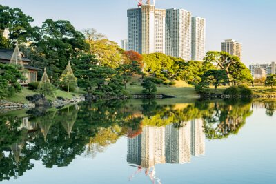 Obraz Pohled na Tokio panoráma s parkem