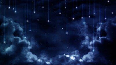 Obraz Pokojný pozadí, modré noční oblohy. Prvky zařízený NASA
