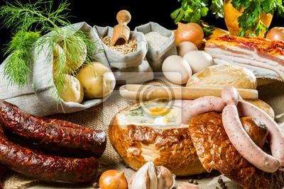 Polévka v chlebu pro velikonoční snídani