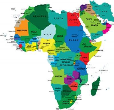 Politická mapa Afriky